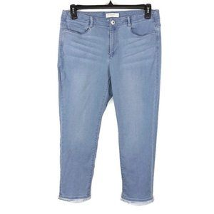 J. Jill Authentic Fit Cropped Frayed Hem Jeans 10